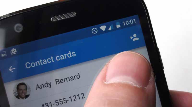 андроид, контакты
