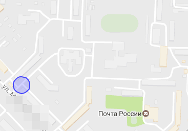 точка на карте где находится телефон